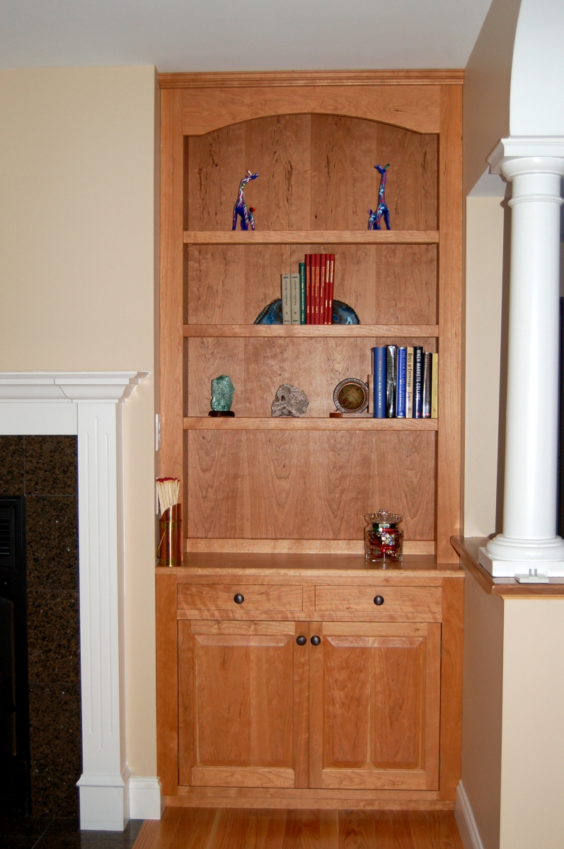 Built-in Select Cherry Bookcase